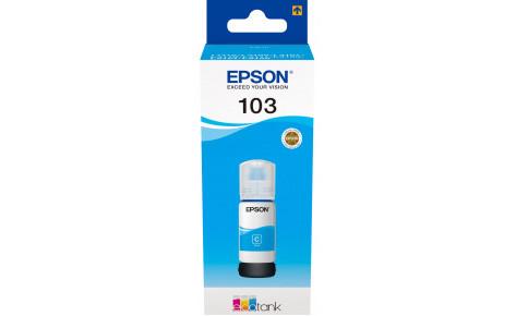 Чернила Epson C13T00S24A для 103 EcoTank L3100/L3101/L3110/L3150 голубой