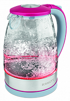 Электрический чайник Scarlett SC-EK27G32 (стекло) серо-розовый