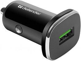 Зарядное устройство автомобильное Defender UCA-91 USB QC3.0 черный