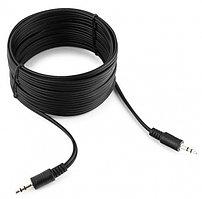Кабель аудио Cablexpert CCA-404-5M, джек3.5 / джек3.5, 5.м черный