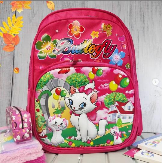 Школьный 3D рюкзак с кошечкой