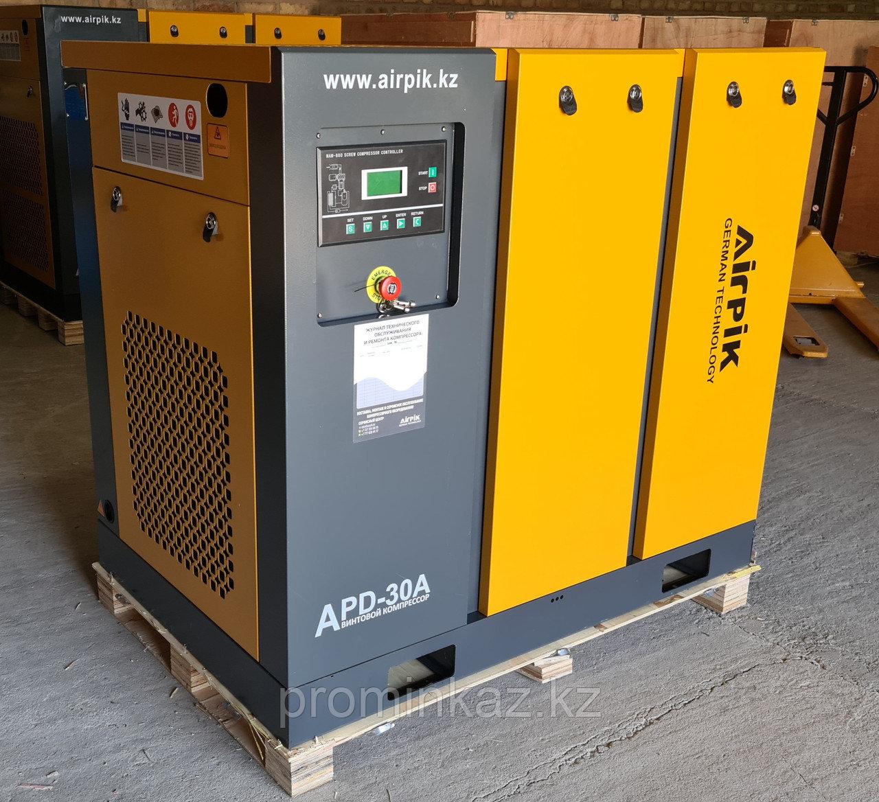 Винтовой компрессор APD-30A, -3,6 куб.м, 22кВт, AirPIK