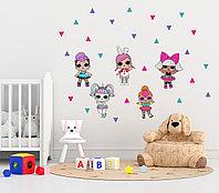 Интерьерные наклейки с куколками LOL