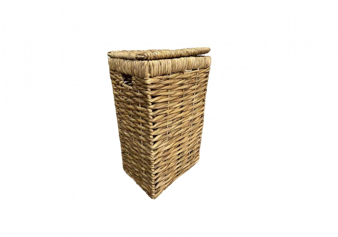 Корзина плетеная прямоугольная Кукуруза 33х24х53см