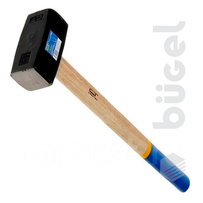 Кувалда 3000г , кованая головка, деревянная рукоятка// СИБРТЕХ