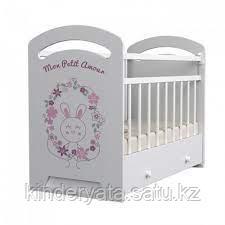 Детская кроватка ВДК  Mon amour  с маятником, с ящиком