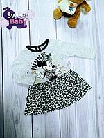 Платье для девочки Мики-Маус на 6 месяцев, 68 см