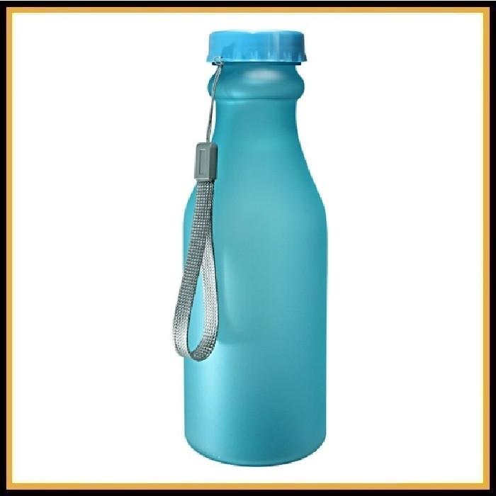 Бутылка для воды (без логотипа) 500мл синяя матовая
