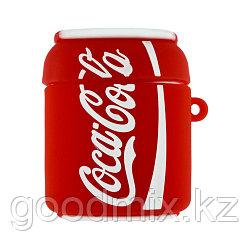 Силиконовый чехол для Apple AirPods Coca-Cola