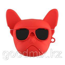 Силиконовый чехол для Apple AirPods / AirPods 2 Собака (красный)