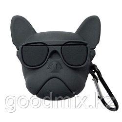Силиконовый чехол для Apple AirPods / AirPods 2 Собака (черный)