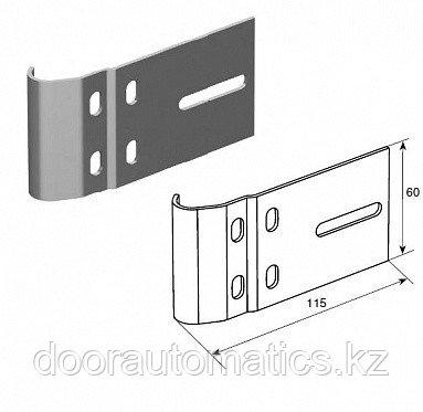 """Соединительная пластина (115 мм) для вертикальных направляющих 2"""" (Типа F)"""