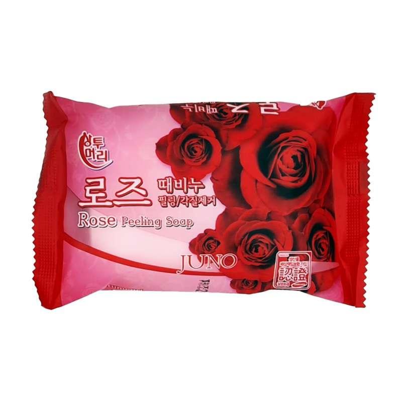 Juno Пилинг - мыло с экстрактом розы Rose Peeling Soap / 150 гр.