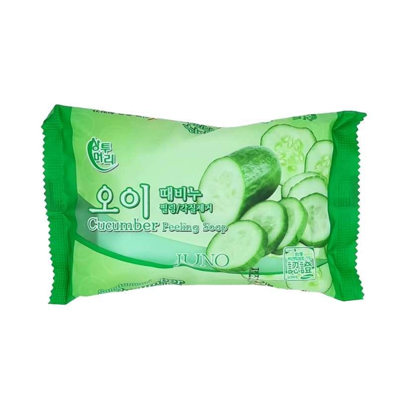 Juno Пилинг - мыло с экстрактом огурца Cucumber Peeling Soap / 150 гр.