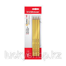 Блистер чернографитных шестигранных карандашей ErichKrause® Amber 100 HB (4 карандаша)