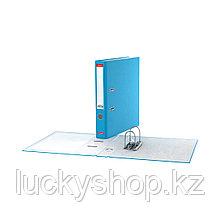 Папка–регистратор с арочным механизмом ErichKrause®, Neon, А4, 50 мм, голубой