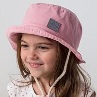 Панамка для девочки, цвет пудра, размер 46-48