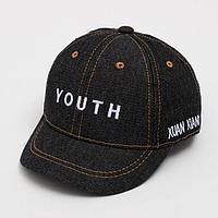 Кепка «Бейсболка» для мальчика, цвет чёрный, размер 48-52