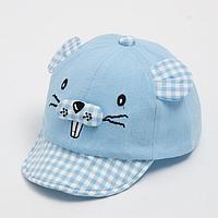 Кепка «Бейсболка» детская, цвет голубой, размер 44-46