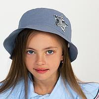 Панамка для девочки, цвет серый, размер 48-50
