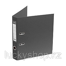 Папка–регистратор Deluxe с арочным механизмом, Office 2-GY27, А4, 50 мм, серый