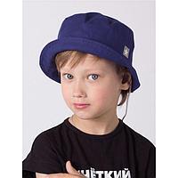 Панамка для мальчика, цвет синий, размер 46-48