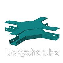 Замковая Х-секция монтажного лотка North Aurora ЛМЗХ 100*50-0,7-ОЦ
