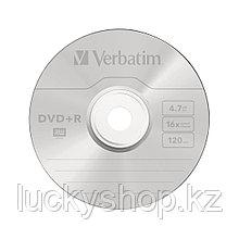 Диск DVD+R Verbatim (43550) 4.7GB 50штук Незаписанный