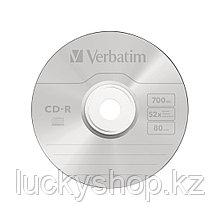 Диск CD-R Verbatim (43343) 700MB 50штук Незаписанный
