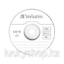 Диск CD-R Verbatim (43351) 700MB 50штук Незаписанный