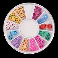 Фимо-дизайн для ногтей «Смайлики», цвет МИКС