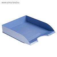 """Лоток для бумаг горизонтальный, """"ДЕЛЬТА. Berlin"""", голубой"""