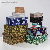 Набор подарочных коробок 10 в 1 «Хаки», 12 х 7 х 4 - 32,5 х 20 х 12,5 см