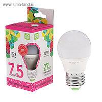 Лампа светодиодная ASD LED-ШАР-standard, Е27, 7.5 Вт, 230 В, 6500 К, 675 Лм