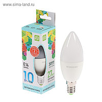 Лампа светодиодная ASD LED-СВЕЧА-standard, Е14, 10 Вт, 230 В, 4000 К, 900 Лм