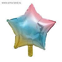 """Шар фольгированный звезда 18"""", разноцветный"""