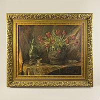 «Натюрморт с коллекцией антиквариата» Gaston Jones (1891-1960) Бельгия Холст, масло.