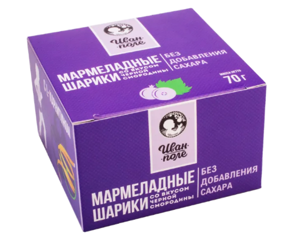 Мармеладные шарики с L-CARNITINE «Черная смородина» без сахара (70 г)