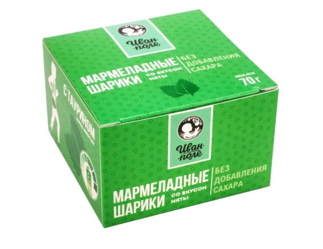 Мармеладные шарики с таурином «Мята» без сахара (70 г)