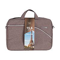 """Сумка для ноутбука Deluxe Paris NEW 15.6"""" (DLNB-102 Brown) 15.6"""" Лёгкая"""
