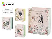 """Подарочный пакет 32*26 """"Радужные краски"""" Mazari M-8020"""
