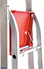 Стремянка алюминиевая NV500 4 широких ступеней профессиональная, фото 8