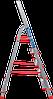 Стремянка алюминиевая NV500 5 широких ступеней профессиональная, фото 3
