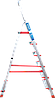 Стремянка алюминиевая NV500 6 широких ступеней профессиональная, фото 3