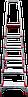 Стремянка алюминиевая NV500 6 широких ступеней профессиональная, фото 4