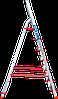 Стремянка алюминиевая NV500 7 широких ступеней профессиональная, фото 3