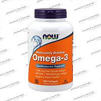 Жирные кислоты NOW Omega 3 1000 мг 200 капсул