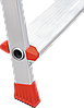 Стремянка алюминиевая NV500 8 широких ступеней профессиональная, фото 6