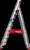 Стремянка алюминиевая NV500 10 широких ступеней профессиональная, фото 3