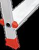 Стремянка алюминиевая NV500 10 широких ступеней профессиональная, фото 6